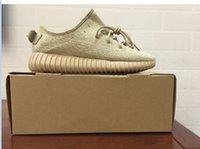 Yeezy 350 impulso baixo Moonrock Com Shoe Box, Moda 350 sapatos baixos Exteriores, 2015 grandes promoções Nova sapatilha Calçados novos sapatos para homens e mulheres