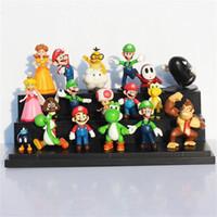 Wholesale 18Pcs set Super Mario Bros yoshi Figure Super mario yoshi PVC action figures