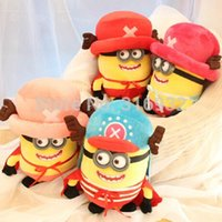 Wholesale J1 Size cm One piece chopper design despicable me plush toy purple minions toys minion stuffed kids toys