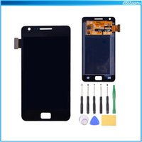 i9100 - 1pc For Samsung Galaxy S2 I9100 Replacement Parts LCD Display Touch Digitizer LCD Touch Panel Assembly With Frame White Black