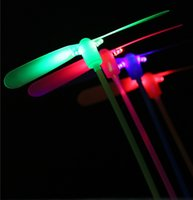 best rotors - best selling new Flying Lights Toys LED Flash bamboo dragonfly flying rotor led toy gift New childhood classic toy