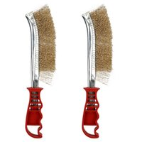 Wholesale 2pcs HEAVY DUTY MULTI PURPOSE HAND WIRE BRUSH RUST PAINT METAL REMOVER CRAFT TOOL