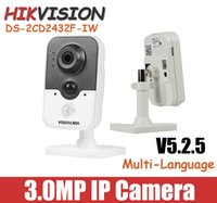 Wholesale Hikvision MP IP Camera DS CD2432F IW POE P CCTV camera Onvif support WiFi Network mini Camera V5 CD2432F IW