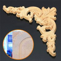 Wholesale 1PC x cm Wood Oak Carved Corner Onlay Applique Furniture Unpainted order lt no track