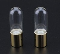 ball plastic lids - Refillable Clear ml oz Steel Metal glass Roller ball ROLL ON fragrance PERFUME GLASS BOTTLES ESSENTIAL OIL Bottle gold and plastic lids