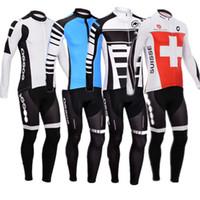 Wholesale 2016 New winter Fleece cycling jersey long sleeve Cycling clothing wear bib Pants Set winter thermal fleece cycling clothing
