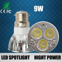 Wholesale B22 W W W X3W X3W X3W Dimmable LED Sport light lamp High Power bulb warm cool white AC V V V LED bulbs