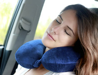 airplane cushion - 3 in1 Travel Set Inflatable Neck Air Cushion Pillow for airplanes eye mask Ear Plug Comfortable business trip