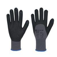 Wholesale Black PVC dotted Grey foam nitrile coated gloves GLT019BOB B