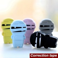 Wholesale Mummy correction tape Funny Candy zombie ribbon Kawaii Stationery fita de cetim cinta correctora escolar School supplies