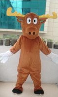 adult moose costume - 2016 hot sale Professional Moose adult Mascot Costume fancy dress For Festival party
