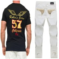 robin jeans - New White Blue Red Black Robin Jeans for Mens Robin Pants Fashion Casual Denim Jeans Robins Jeans Men Plus Size