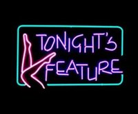 advertisement feature - TONIGHTS FEATURE REAL Glass Tube Neon Light Sign Display Beer Bar Disco KTV Pub Club Advertisement Logo Sign quot X14 quot