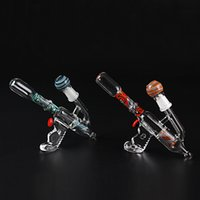 gun water pipe - Corlorful Oil Rigs Bongs Glass Water Pipes Gun Shape Glass Pipes mm With Dome And Nail ML05008