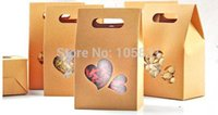 Wholesale 30X Eco friendly kraft paper box cm cm with heart window stand up pouch can Customize logo printing