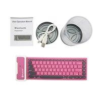 Folding wireless silicone keyboard - DHL Portable Foldable Wireless Silicone Bluetooth Waterproof Keyboard for Apple iPad iPad mini iPad air