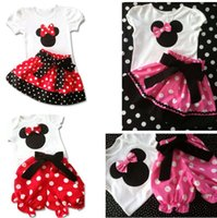 Wholesale 2014 Retail set Top Quality girl fashion cartoon clothing suits t shirt skirt suits kids casual clothes