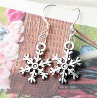 arch heart - 14 x35 mm Tibetan Silver Cute Arched Snowflake Charm Pendant Earrings Silver Fish Ear Hook E794