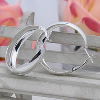 Wholesale Stylish Women Silver Plated Dangle Earrings Simple Style Jewelry Female Wedding Earrings SF426