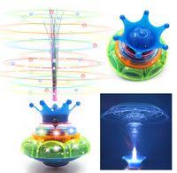 Wholesale 2015 new flash toys crown flash music optical fiber gyro best kids toy