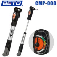 Wholesale 2015 BETO Aluminium Alloy Mini Portable Cycling Bike Bicycle Tire Inflator Air Pump with Pressure Gauge Bracket CMP