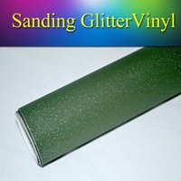 vinyl for car wrapping - 1 x30m x98FT Army Military Sanding Glitter Vinyl Wrap Matte Flash Sparkle Glitter Wrap Vinyl Film Stickers for car wrapping