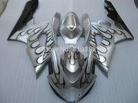 abs molds - Injection molds trim kit for SUZUKI GSXR GSX R GSXR K5 Black flames silver street Fairings set