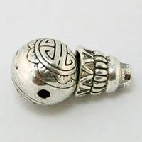 antique prayer beads - 120pcs Antique Silver Alloy x17mm Tibetan Buddha Prayer Head Tee Spacer Loose Beads Charm Fit Bracelet DIY Jewelry Findings DH BJI831