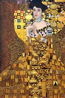 art bauer - oil Painting Gustav Klimt art for sale Portrait of Adele Bloch Bauer Canvas Hand painted High quality
