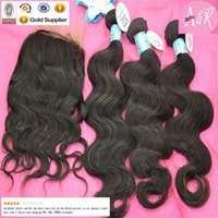 Wholesale 4Bundles Dyeable Malaysian Peruvian Hair Weave With Human Hair Lace Frontal Closures X4 High Quality Brazilian Human Hair For Braiding