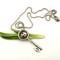Wholesale New Fashion One of The Evil Queen s Skeleton Skull Key Necklace From Once Upon a Time Necklace Movie Jewelry