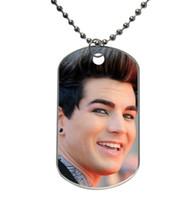 Light-weight Aluminum adam lambert - Adam Lambert Customized Fashionable Design Dog Tag Necklace Aluminum Tag for Animal Pets Tag