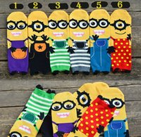 Wholesale Fashion Minions Socks Unisex cotton Despicable Me printed socks Cartoon minion D superhero socks christmas gift