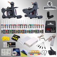 Wholesale Best Tattoo Kit needles Machine Guns Power Supply Color Inks HW GDD