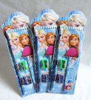 Wholesale Promotional frozen ruler Set Frozen Princess Elsa Anna Pencils Eraser Pencil sharpener Notebook ruler in stationery W0051