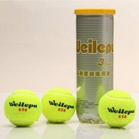 Wholesale 3pcs bag High performance Low price Tennis Balls for Primary Tennis Player Trainning Good Rubber Wool