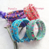 Cheap Free Shipping Fashion bohemia 2015 new jewelry accessories Punk multi-circle wooden beads bangle colorful handmade open women