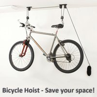 bicycle lift storage - Bike Bicycle Lift Ceiling Mounted Hoist Storage Garage Bike Hanger Save Space Roof Ceiling Pulley rack Wall Mounted Bike hook
