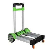hand trolley - Hot Multifunctional Folding Retractable Shopping Trolley Portable Hand Trolley Carts Aluminum Travelling Lage Trailer JO0002 Kevinstyle