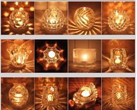 Wholesale New Wedding European Style Clear Crystal Glass Candle Holder For Home Decoration Wedding Supplies