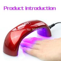 Wholesale Portable Nail Curing Lamp W V LED Light Bridge Shaped Mini Curing Nail Dryer Nail Art Lamp Care Machine for UV Gel EU Plug