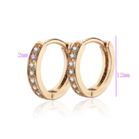 baby gift shop - Shopping Festival New K Gold Plated Classic Baby CC Hoop Earrings Zirconia Earring For Baby E18K