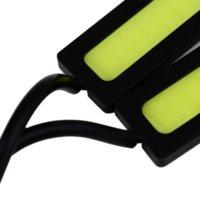 Cheap 1pair(2pcs) 12V Ultra-thin COB Chip LED Car Auto DRL Daytime Driving Running Fog Light Lamp Free shipping M2329