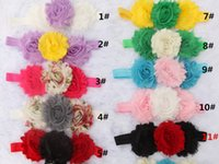 baby sun rose - mix color three superposition chiffon Rose flowers Children s hair band Baby sun flower Cute Hair Bands baby Hair Accessories