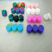 Wholesale Ml Round Mini Silicone Jars Dab Wax Vaporizer Oil Container Oil Slick Container