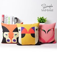 black pillow cases - New Monkey Flamingo Birds Baby Room Linen Pillow Case quot x18 quot