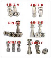 best nut - BEST SALER GR2 TITANIUM NAILS mm mm mm IN AND IN1 domeless titanium nailS with male and female joint