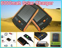 Wholesale Portable mah solar charger mah solar power bank Dual USB battery energy Panel charger S6000 solar power bank charger