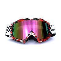 S atv frames - New High quality Graffiti Frame Motocross Goggles Oculos Motocross Motorcycle Dirt Bike ATV MX Off Road Helmets Goggles gafas