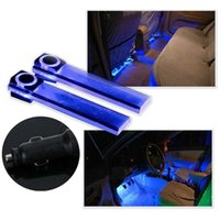 Wholesale 12V LED Car Auto Interior Atmosphere Lights Floor Decoration Lamp Light Blue